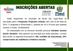 No Projovem Urbano Você Estuda e Ganha Bolsa de R$ 100,00 por Mês - Inscrições Abertas!!!