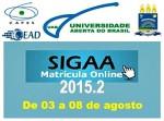 Atenção! Matriculas Curriculares dos Cursos CEAD/UFPI