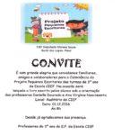 Convite: Projeto Pequenos Escritores