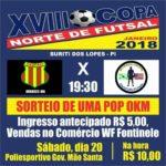 Grande Clássico da Copa Norte de Futsal e Sorteio de uma Moto Pop 110 Zero Km